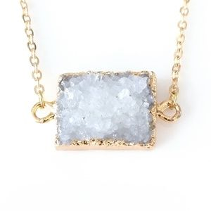 ONLY ONE! Genuine druzy simple necklace